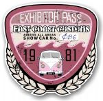 Aged Vintage 1981 Dated Car Show Exhibitor Pass Design Vinyl Car sticker decal  89x87mm